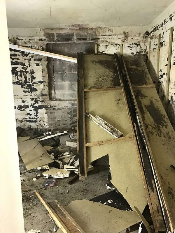 Demolition of old Ceilings Walls and Wiring