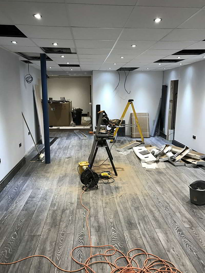Re-wired Flooring Installed Shop Commercial Premises